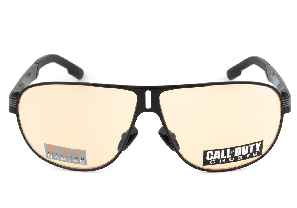 Call of Duty Ghosts Black Rectangular Sunglasses with Titanium Gaming Lens