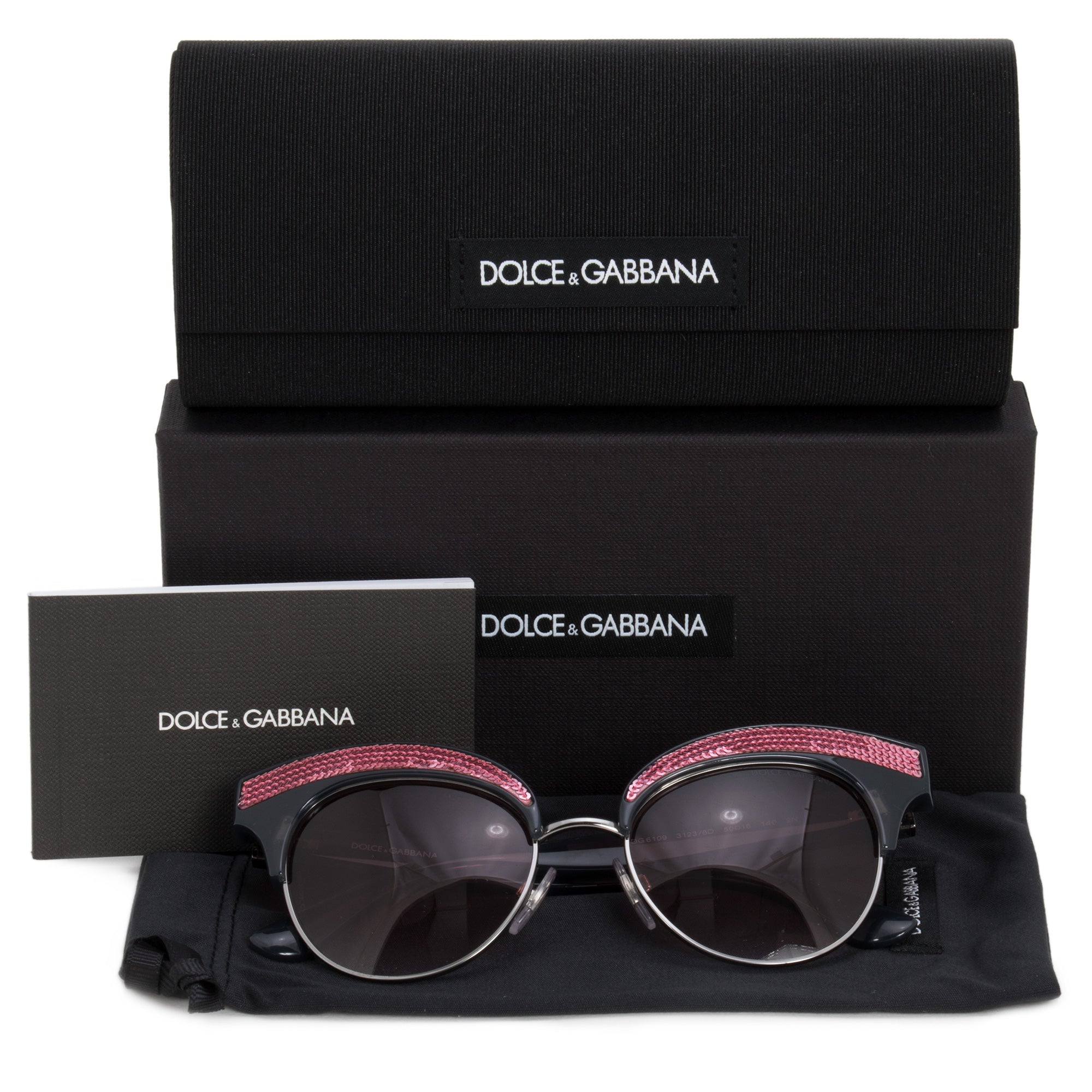 Dolce & Gabbana Cat Eye Sunglasses DG6109 31238D 50