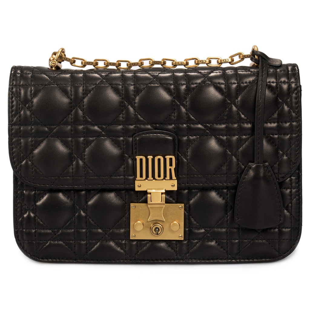 Dior Dioraddict Flap Bag in Black Cannage Lambskin