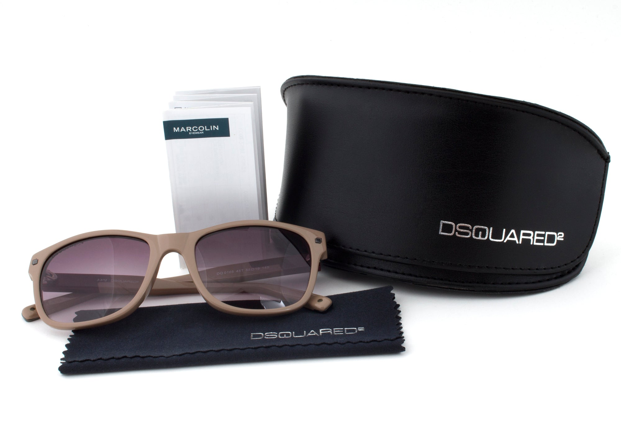 DSquared DQ0105 45T Sunglasses | Blush Frame | Purple Gradient Lens