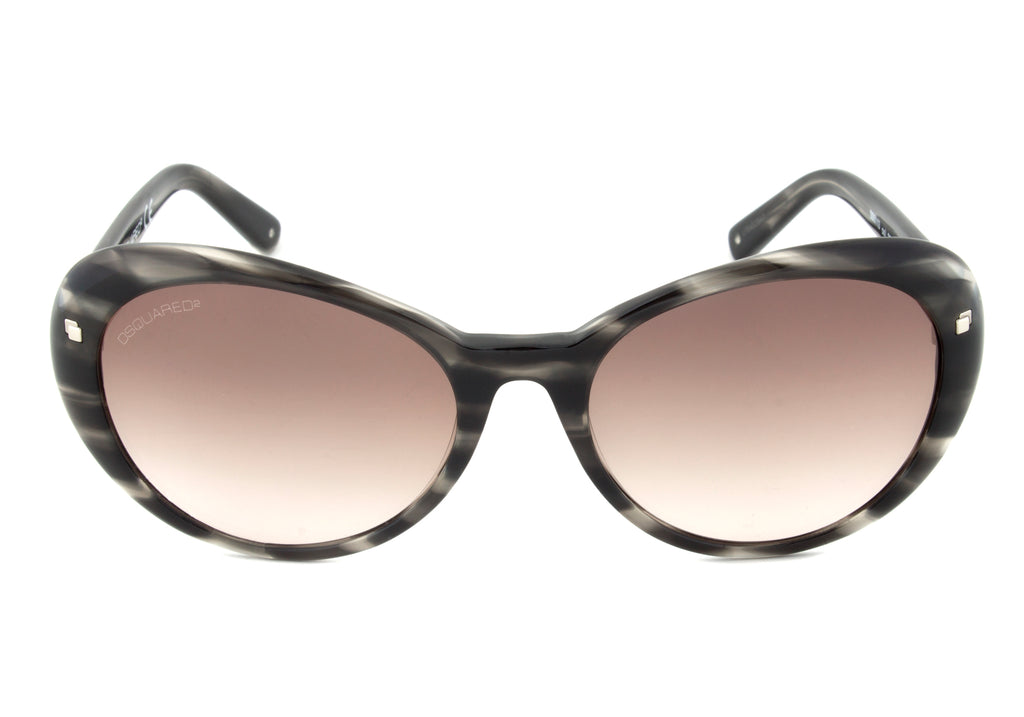 DSquared DQ0113 20B Sunglasses | Horn Frame | Brown Gradient Lens