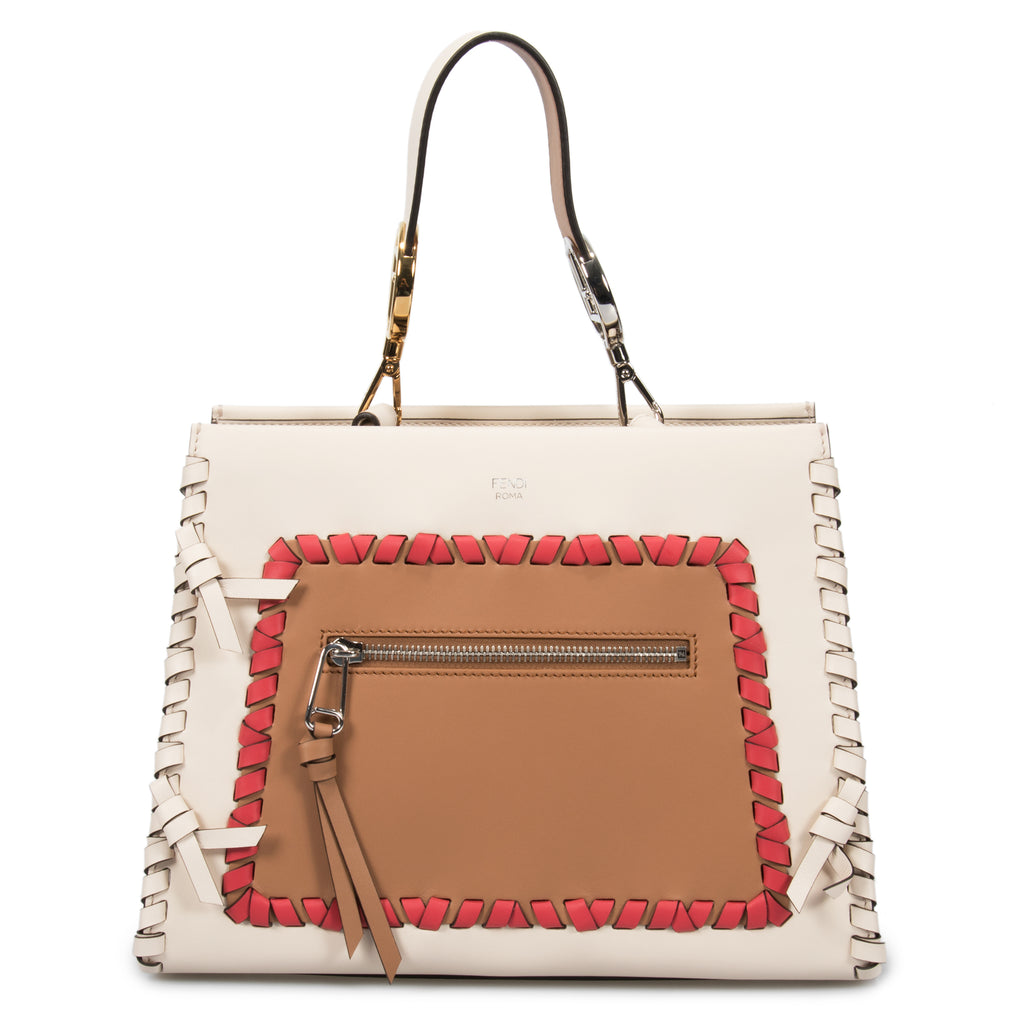 Fendi Small White Runaway Leather Bag
