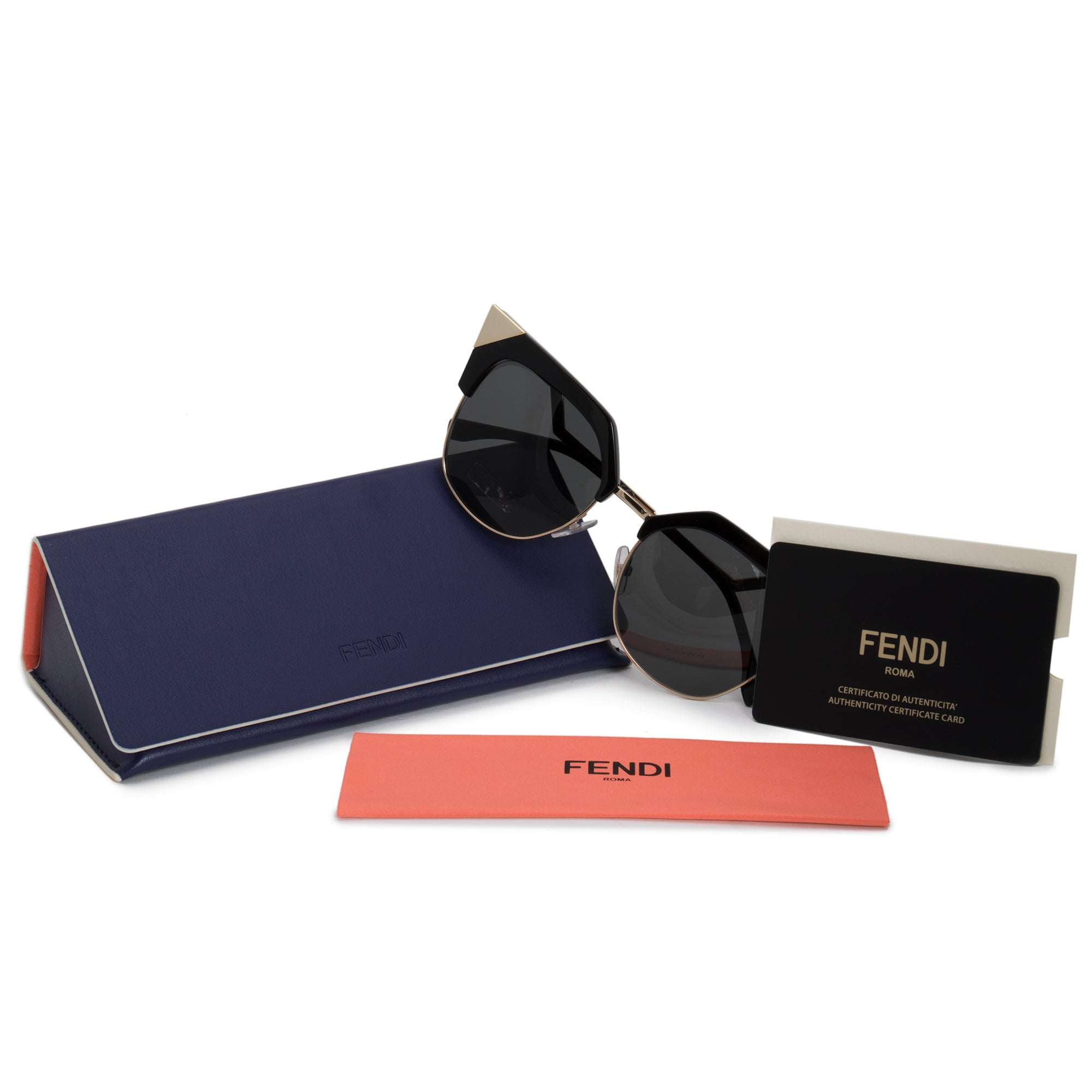 Fendi Iridia Cat Eye Sunglasses FF0149S REW P9 54