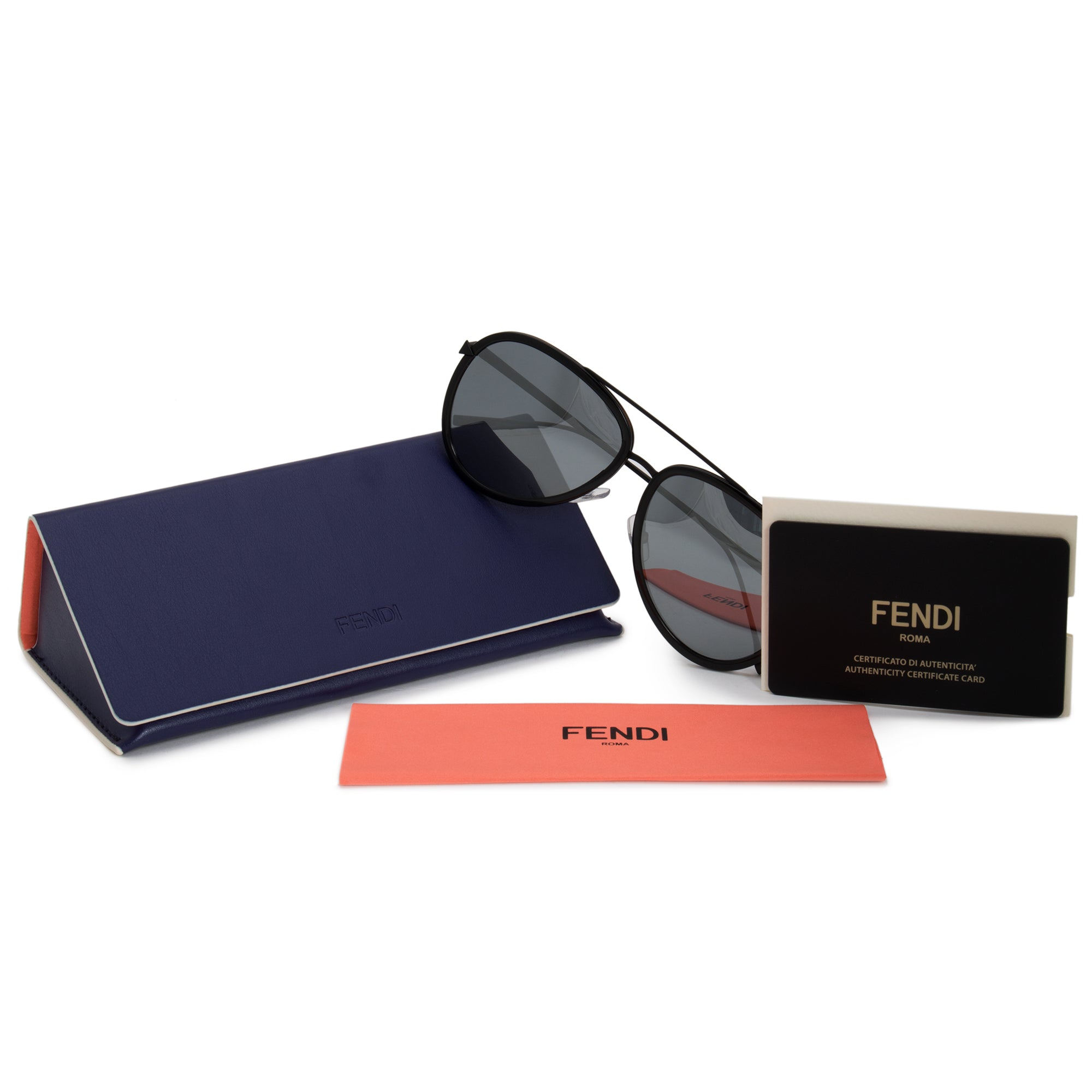 Fendi Aviator Sunglasses FF0155S 0DX T4 57