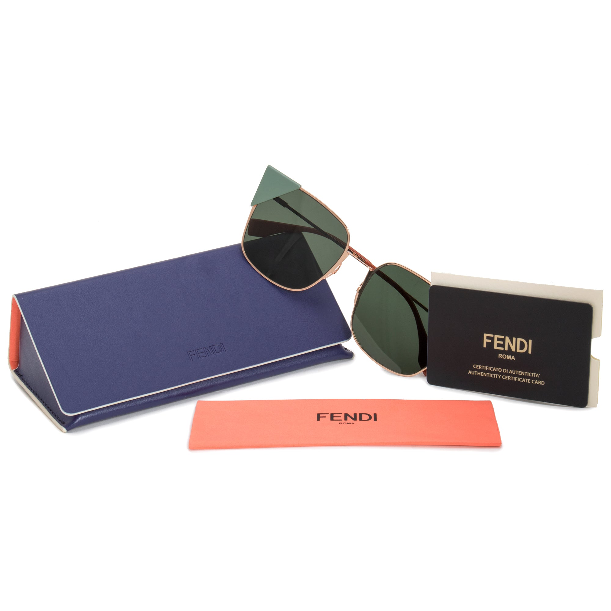 Fendi Lei Square Sunglasses FF0191S DDB 07 55
