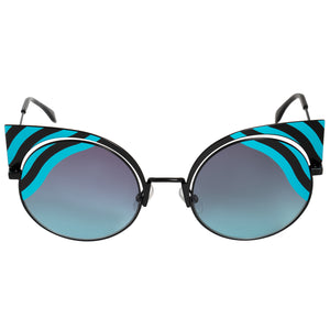 Fendi Hypnoshine Cat Eye Sunglasses FF0215S 0LB JF 53
