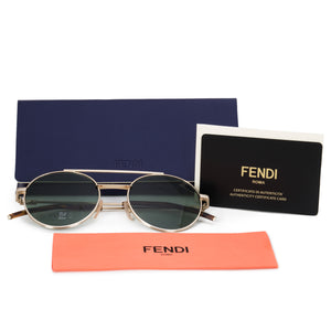 Fendi Air Round Sunglasses FF0221S J5G QT 52