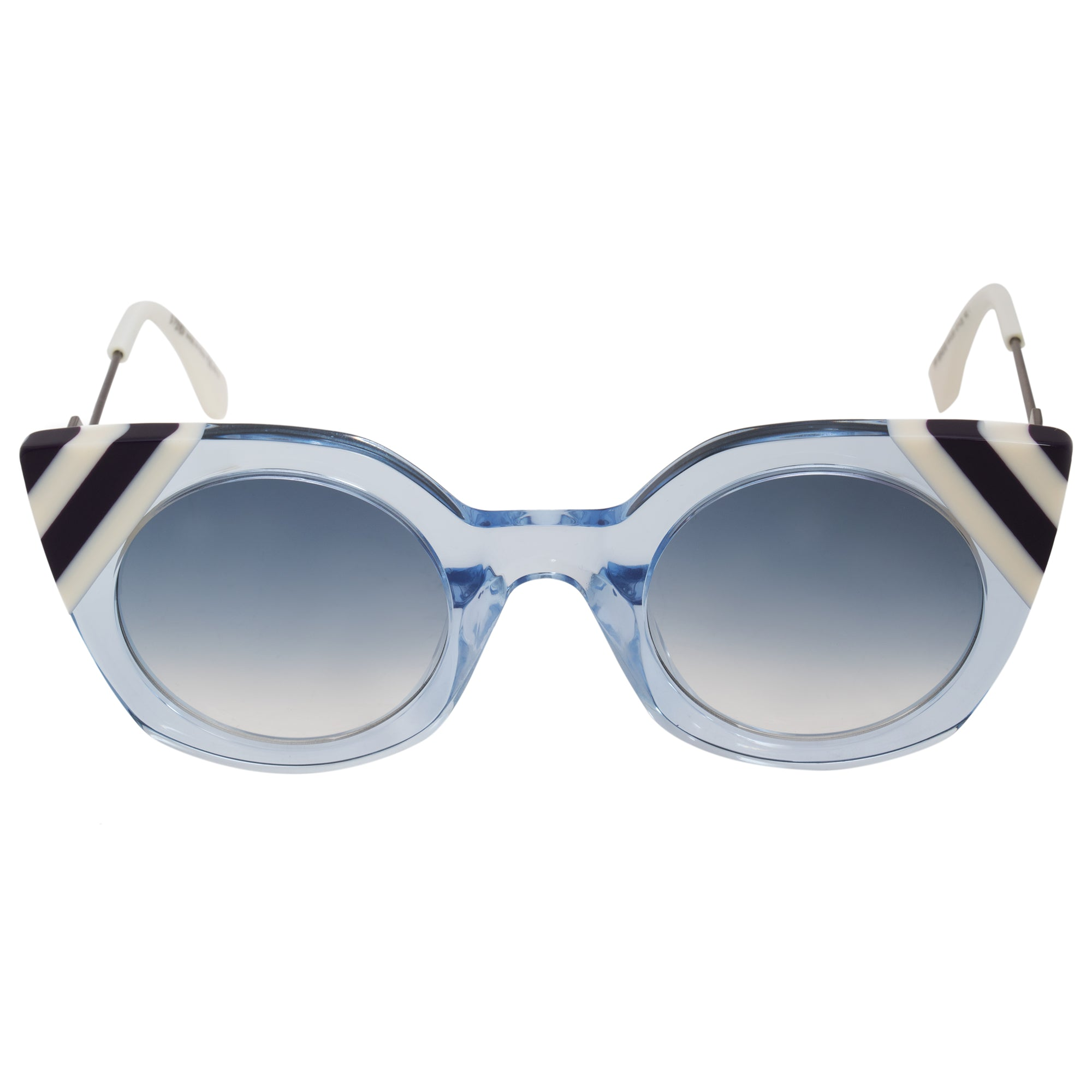 Fendi Waves Butterfly Sunglasses FF0240S MVU DB 47
