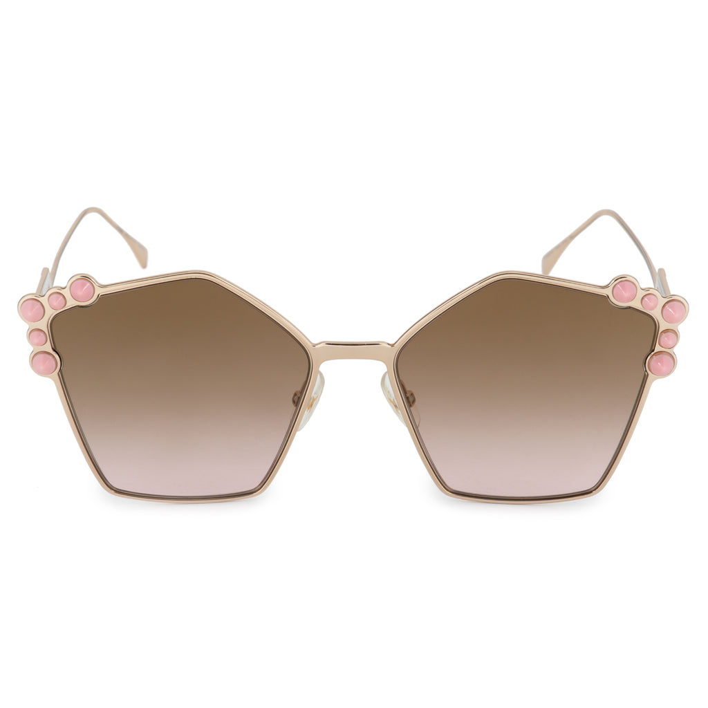 Fendi Can Eye FF 0261/S 000/53 57 Geometric Sunglasses
