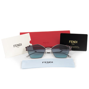 Fendi Can Eye FF 0261/S 6LB/JF 57 Geometric Sunglasses