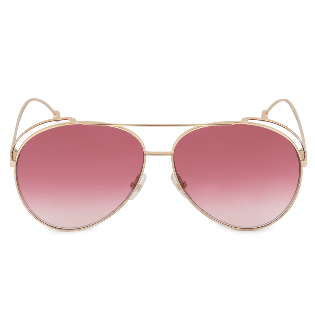 Fendi Run Away FF 0286/S 000/3X 63 Aviator Sunglasses