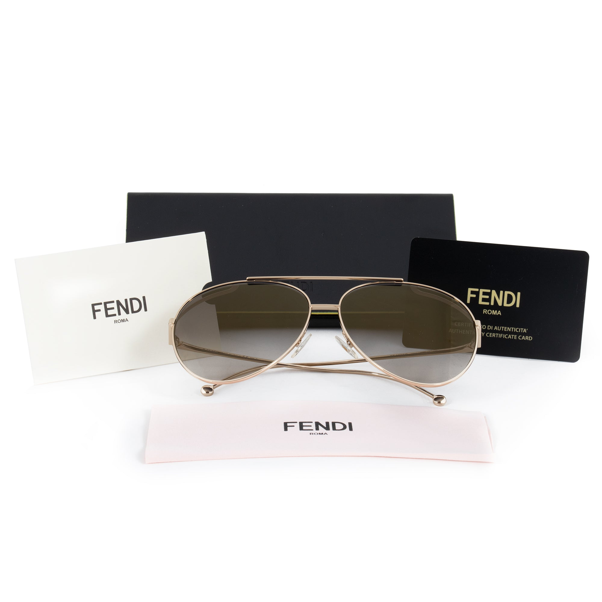 Fendi Run Away FF 0286/S J5G/FQ 63 Aviator Sunglasses