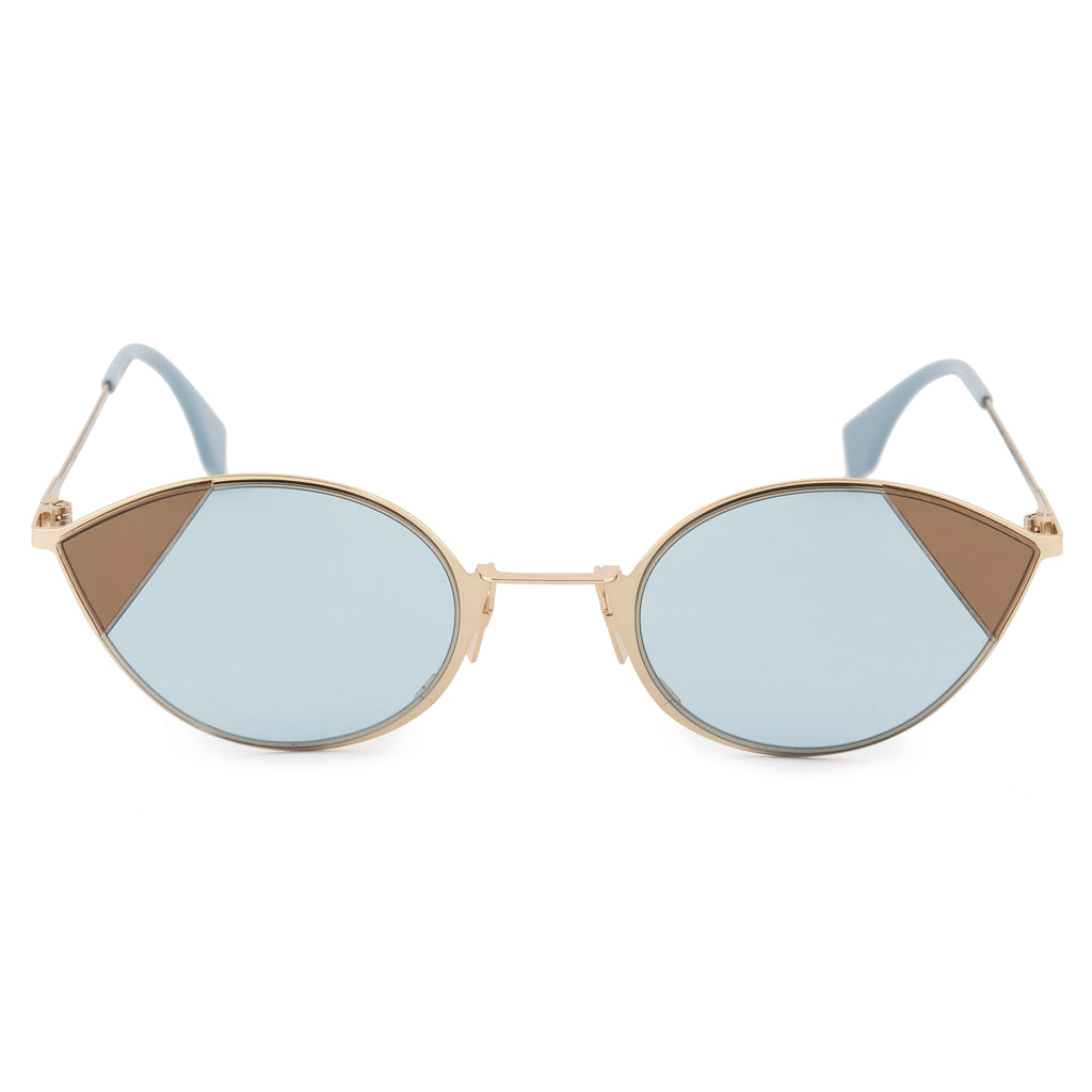 Fendi Cut-Eye FF 0342/S QWU/1P 51 Cat Eye Sunglasses