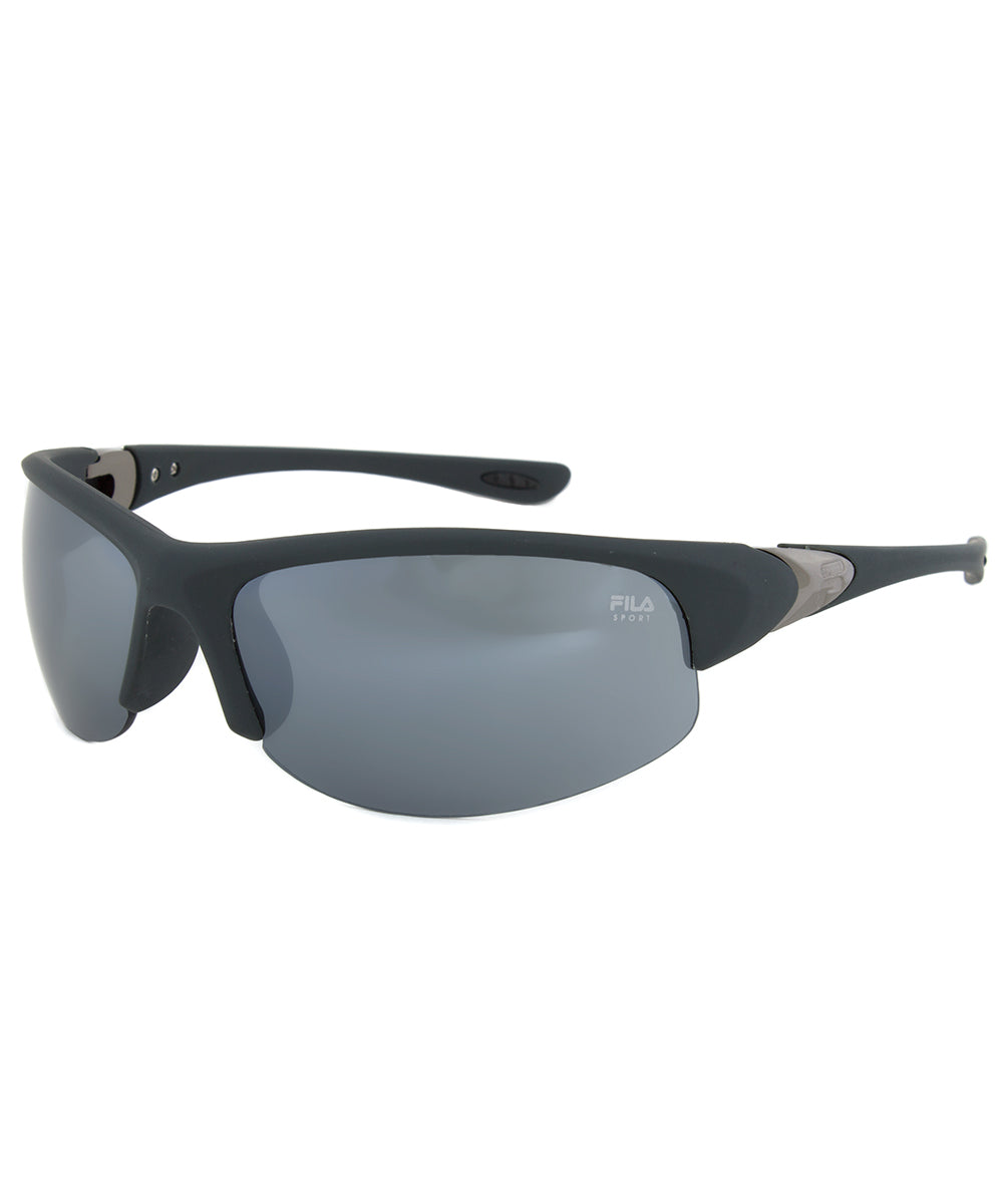 Fila FAC1033 035 Matte Grey Half Framed Sunglasses with Grey Tinted Lenses