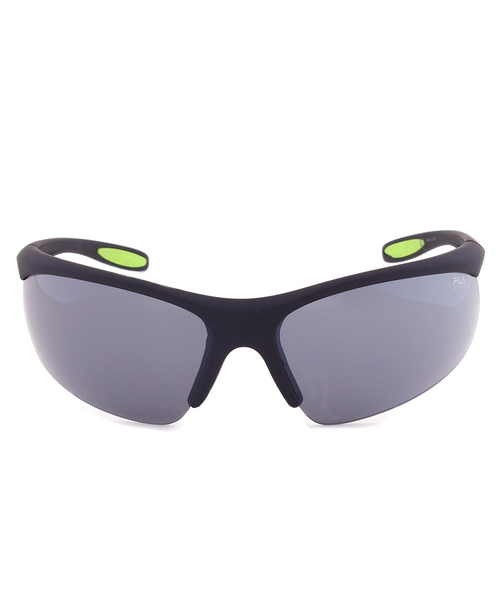Fila Sport F1060 002 Wrap Sunglasses | Rubberized Black Frame | grey Lens