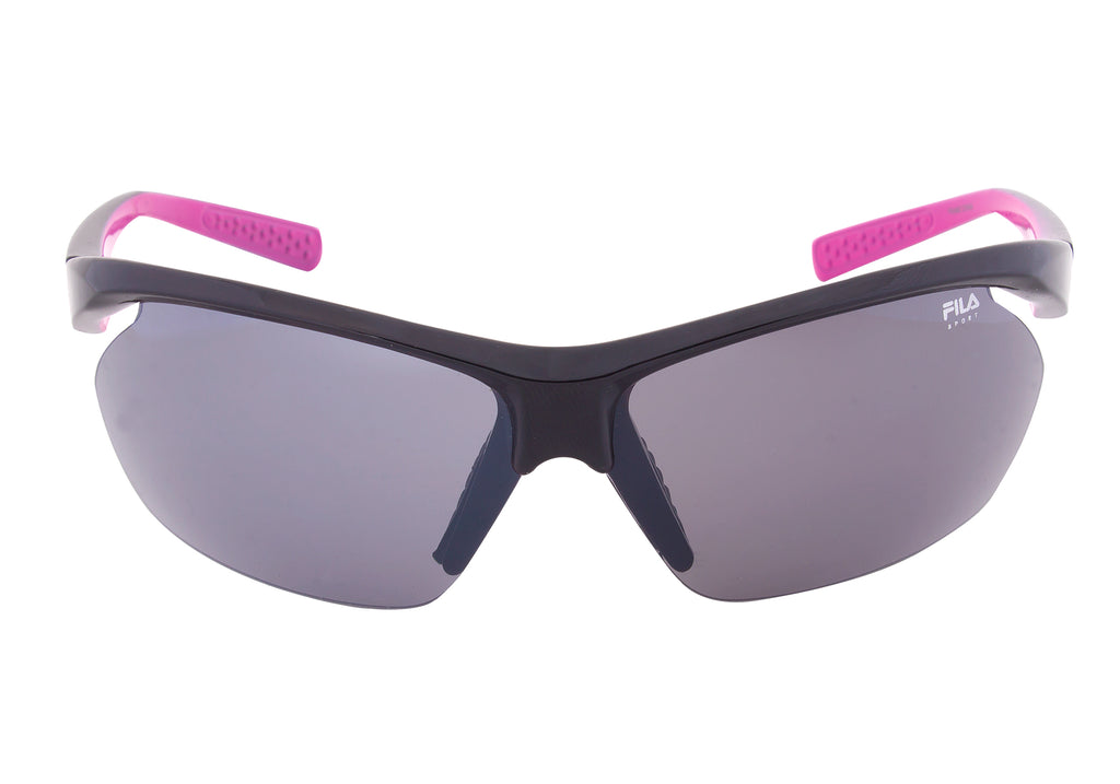 Fila Sport FAC5024 001 Wrap Sunglasses | Black Frame | grey Lens
