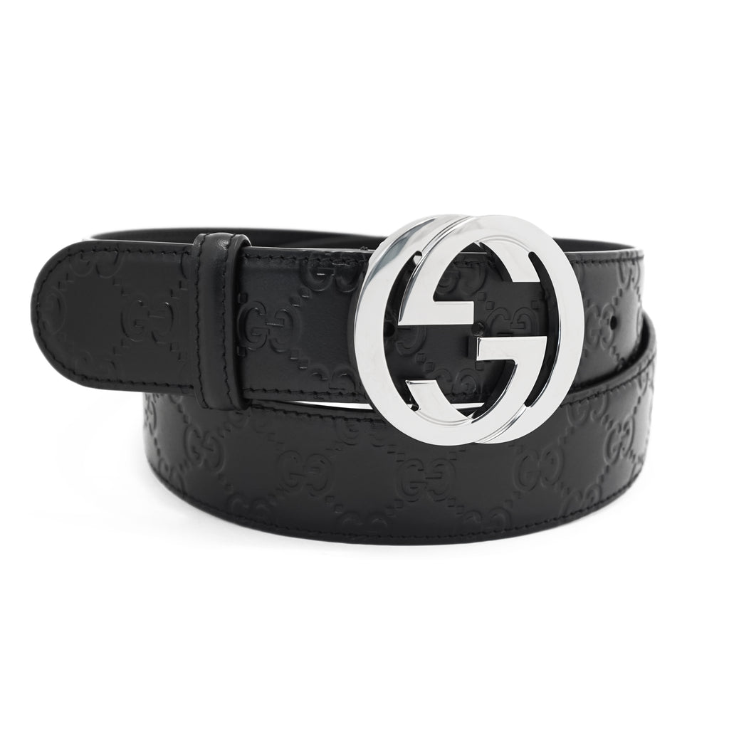 Gucci Signature Leather Belt Black 95-