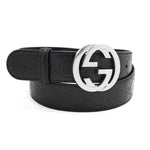 Gucci Signature Leather Belt Black 85-