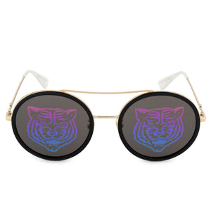 Gucci Round Tiger Sunglasses GG0061S 014 56