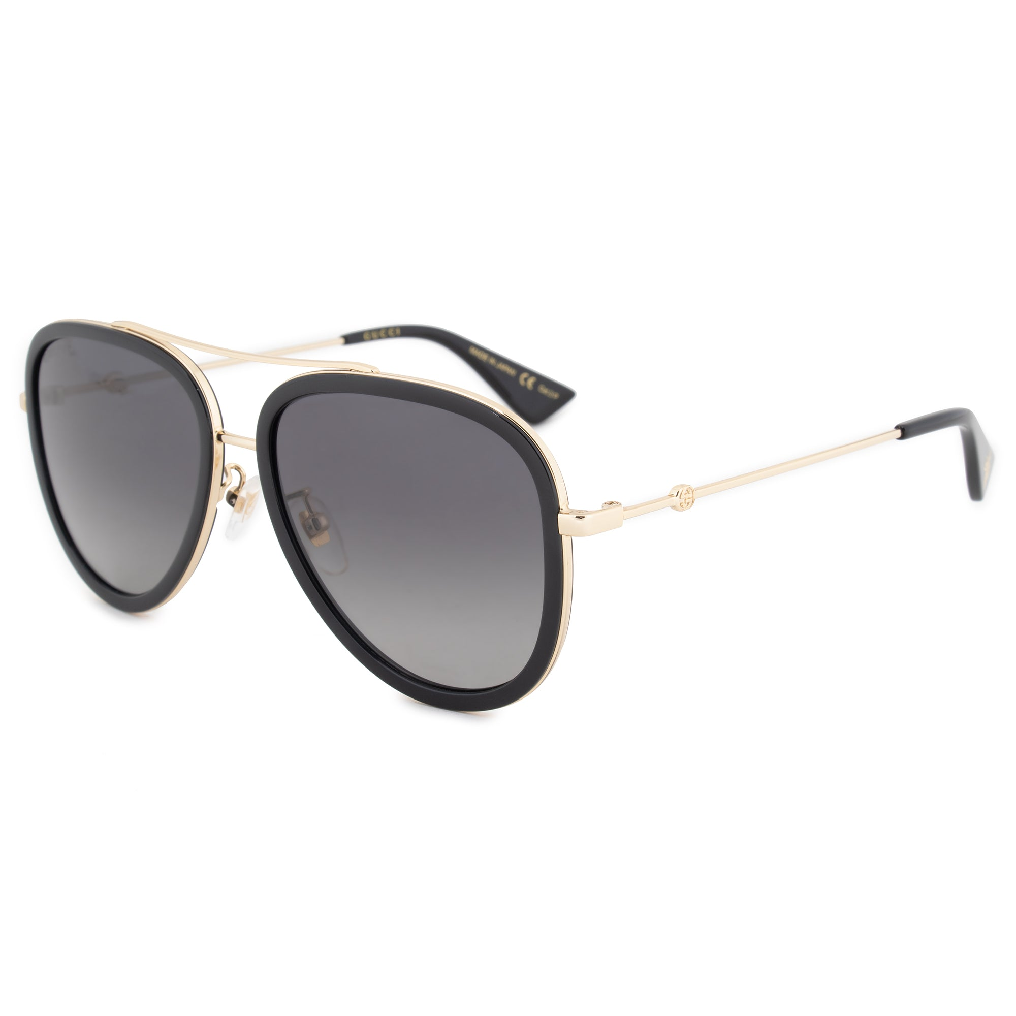 Gucci Polarized Aviator Sunglasses GG0062S 011 57