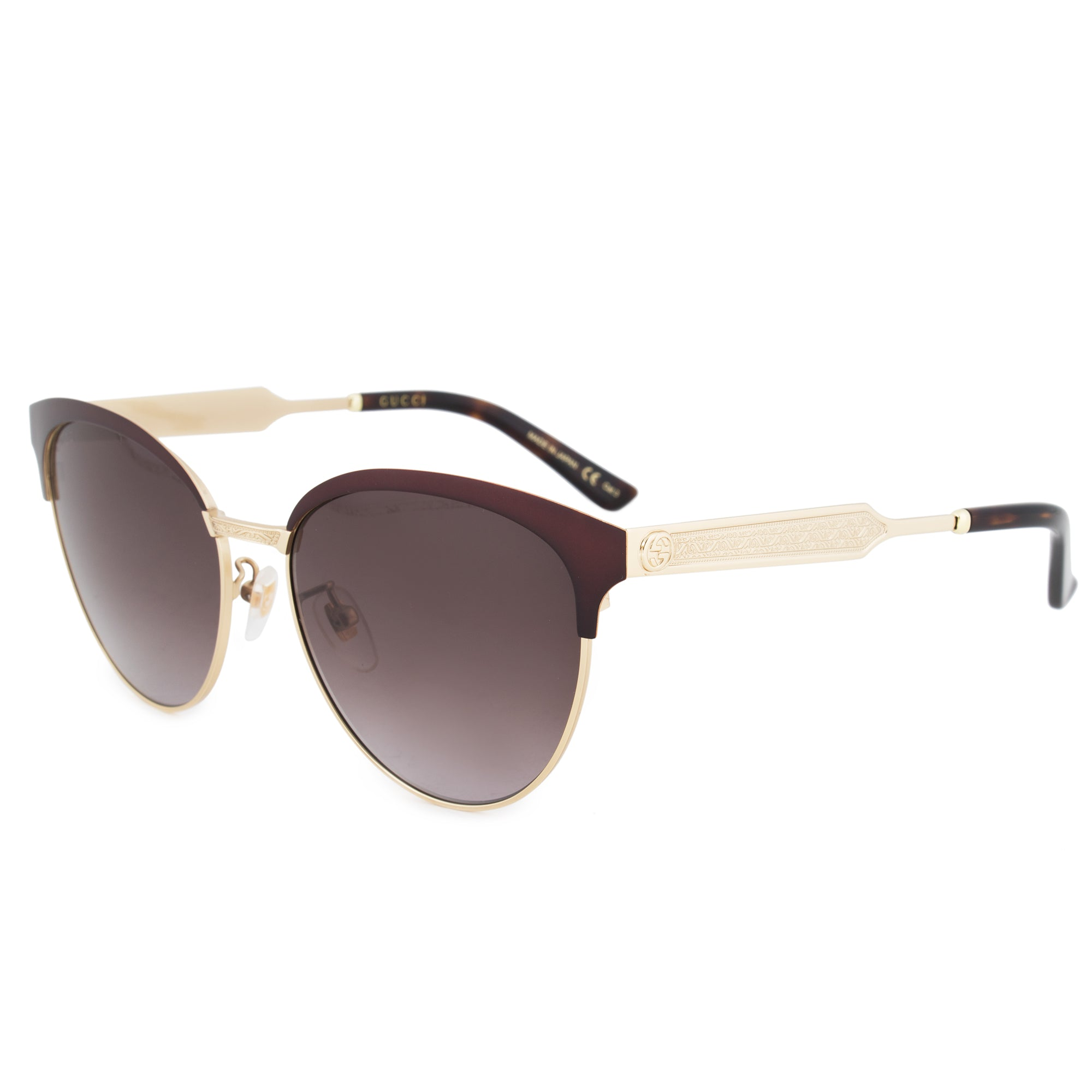 Gucci Gucci Cat Eye Sunglasses GG0074S 004 57