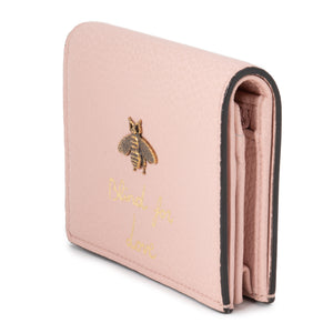 Gucci Animalier Card Case in Pink