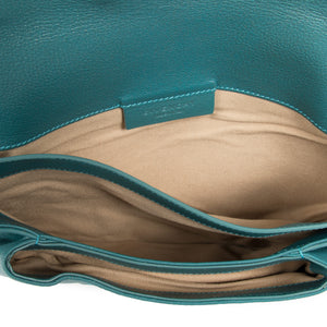 Givenchy Givenchy Medium Teal Antigona Envelope Clutch