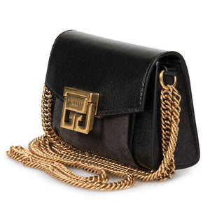 Givenchy GV3 Nano Bag in Black Leather & Suede