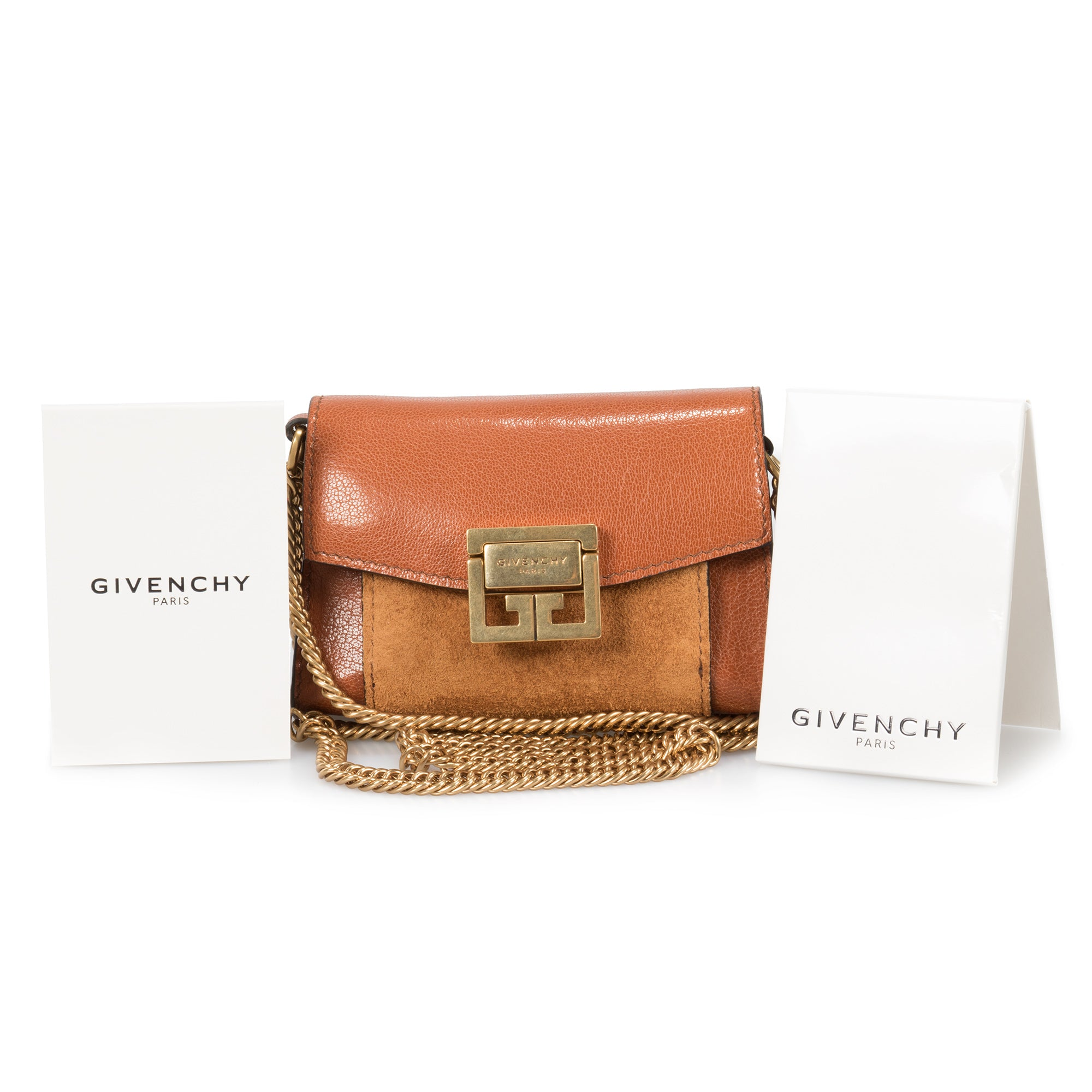 Givenchy GV3 Nano Bag in Navy Leather & Suede