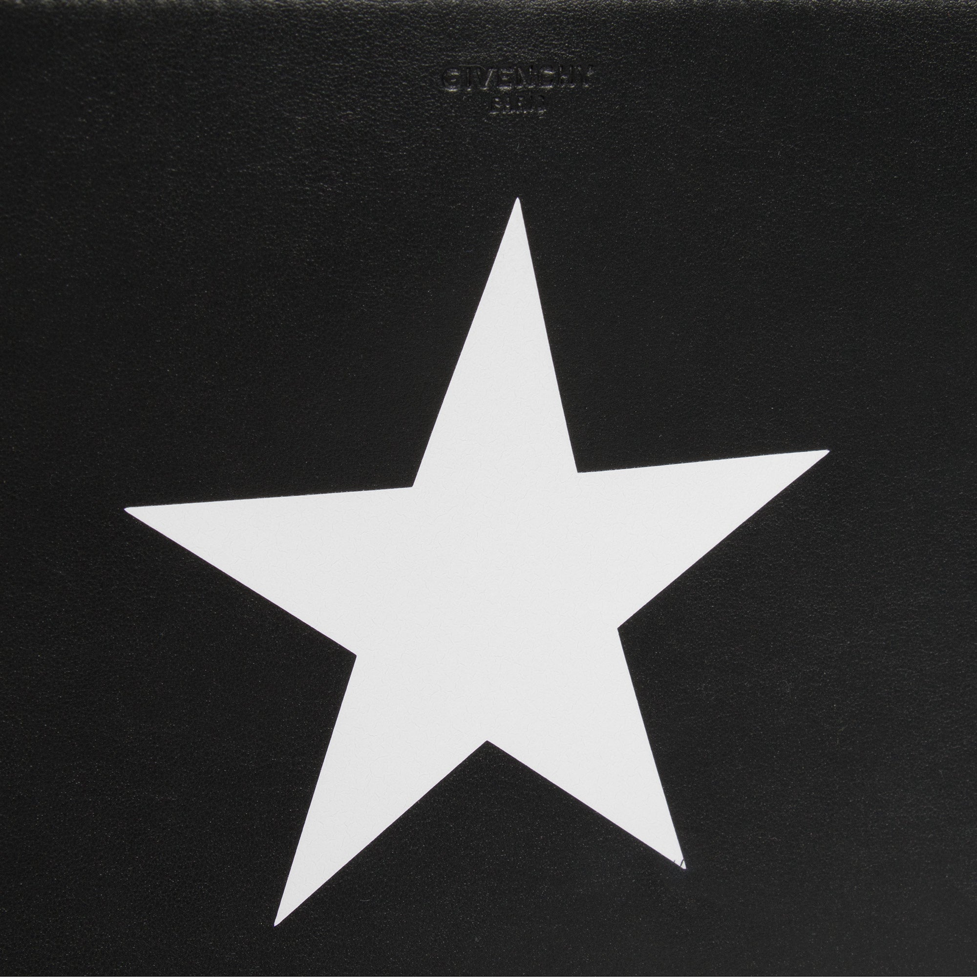 Givenchy Medium Black Leather Pandora Pouch With White Star