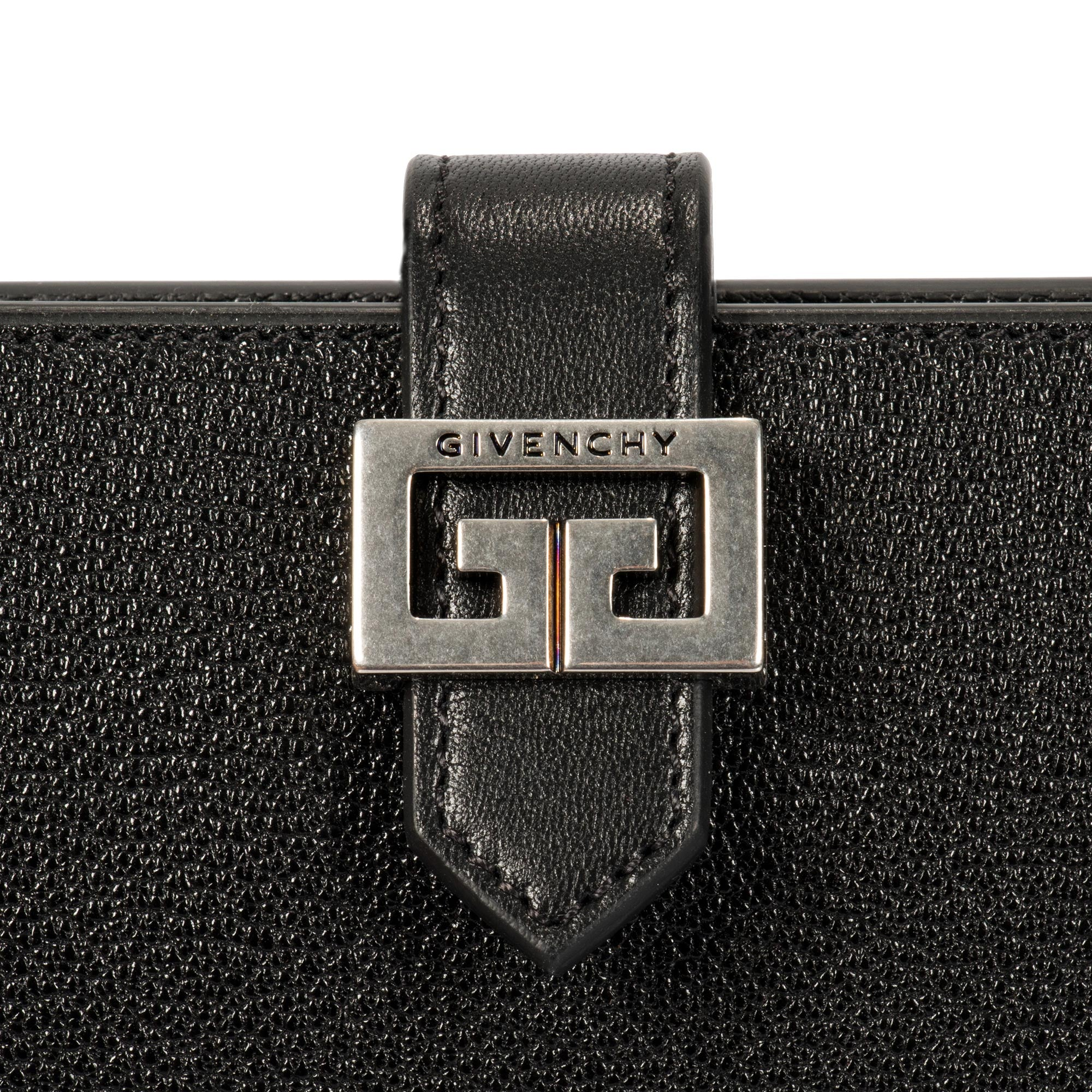 Givenchy GV3 Wallet in Black Leather