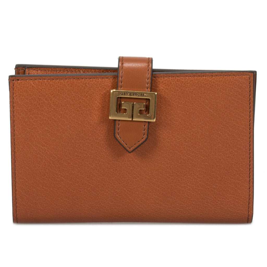 Givenchy GV3 Wallet in Chestnut Leather