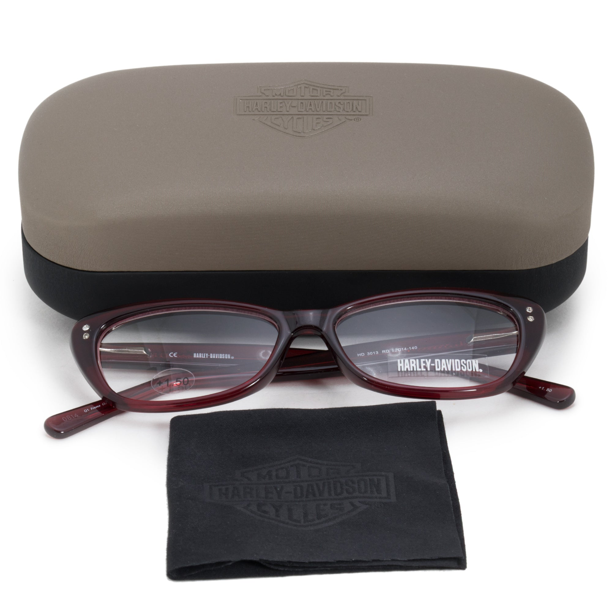 Harley Davidson Oval Reading Eyeglasses HD3013 RD 52 +1.50