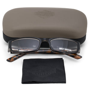 Harley Davidson Rectangular Reading Eyeglasses HDV3005 BLK TO 54 +2.50