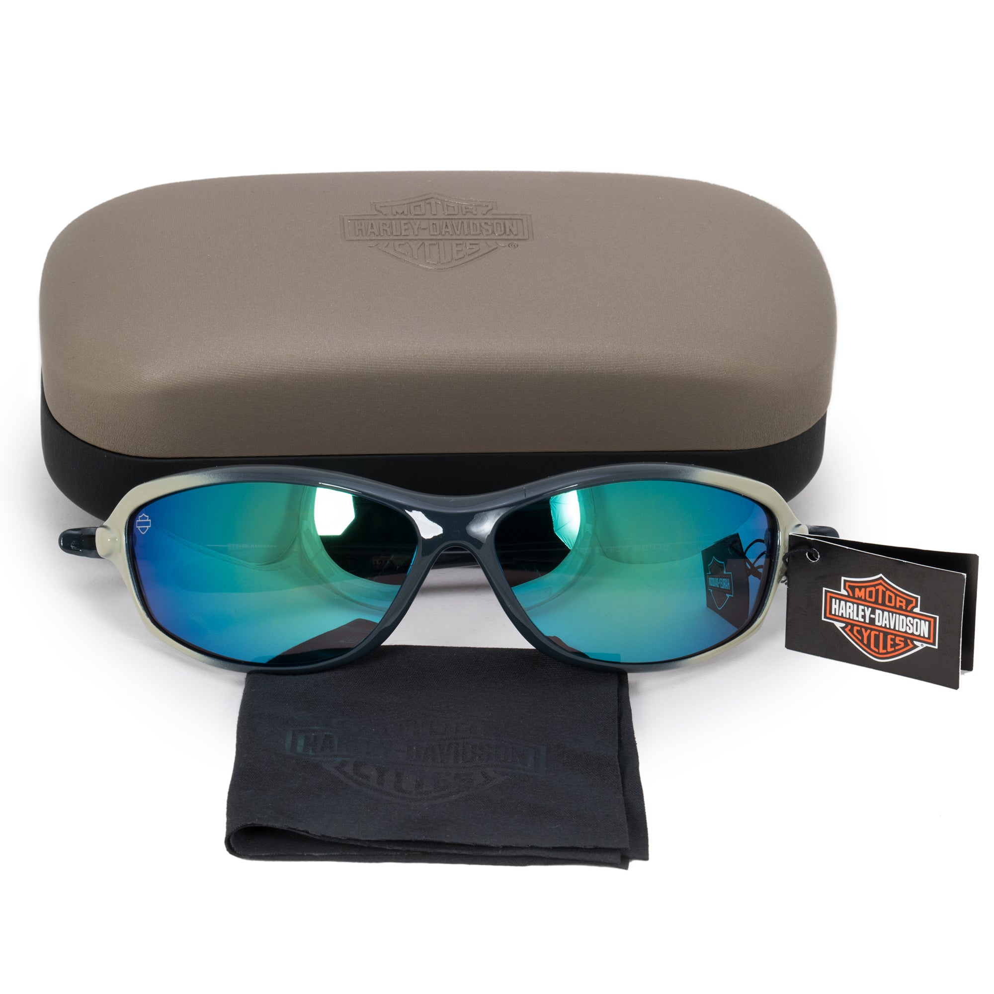 Harley Davidson Rectangle Sunglasses HDS0614 BL 3F 66