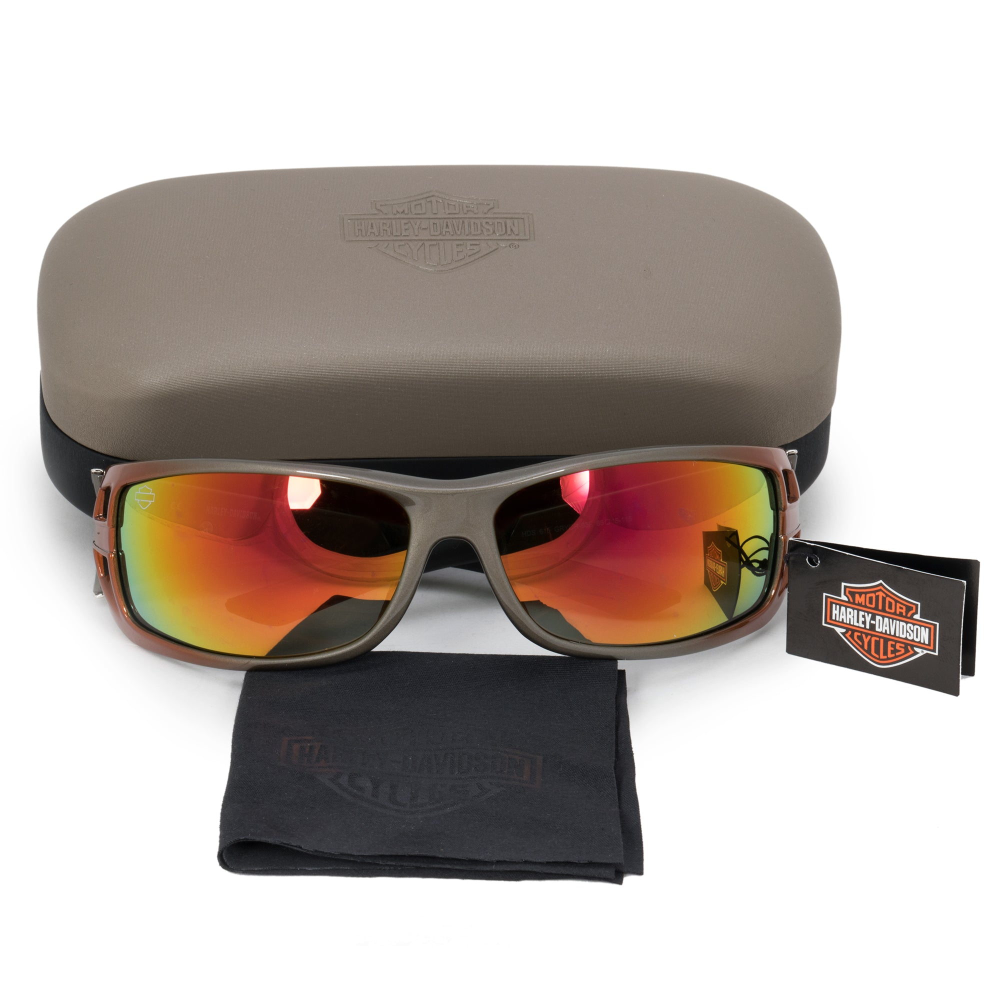 Harley Davidson Rectangle Sunglasses HDS0615 GY0R 83F 65
