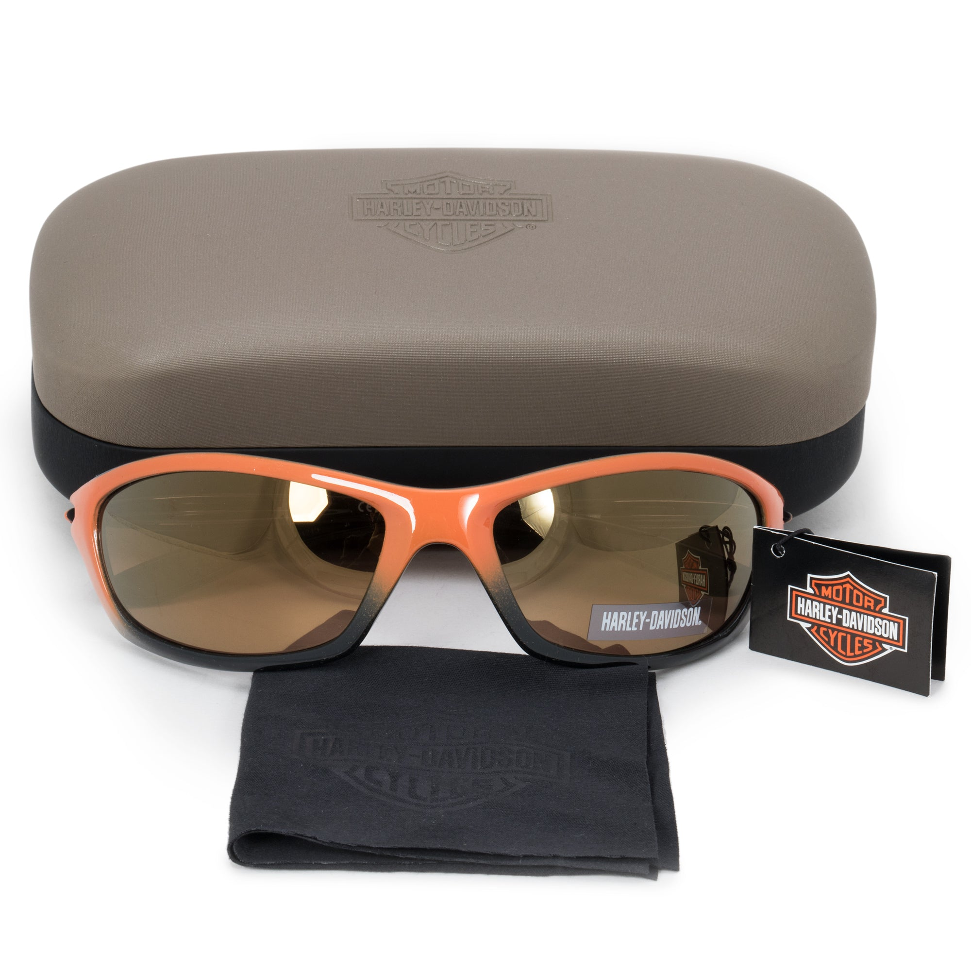 Harley Davidson Rectangle Sunglasses HDS0616 OR 1F 62