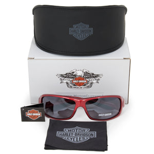 Harley Davidson Rectangle Sunglasses HDS8002 RD 3F 63