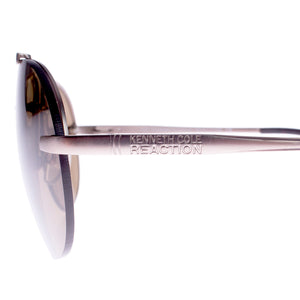 Kenneth Cole KC2321 32E Aviator Sunglasses | Brown/Gold Frame | Brown Lens