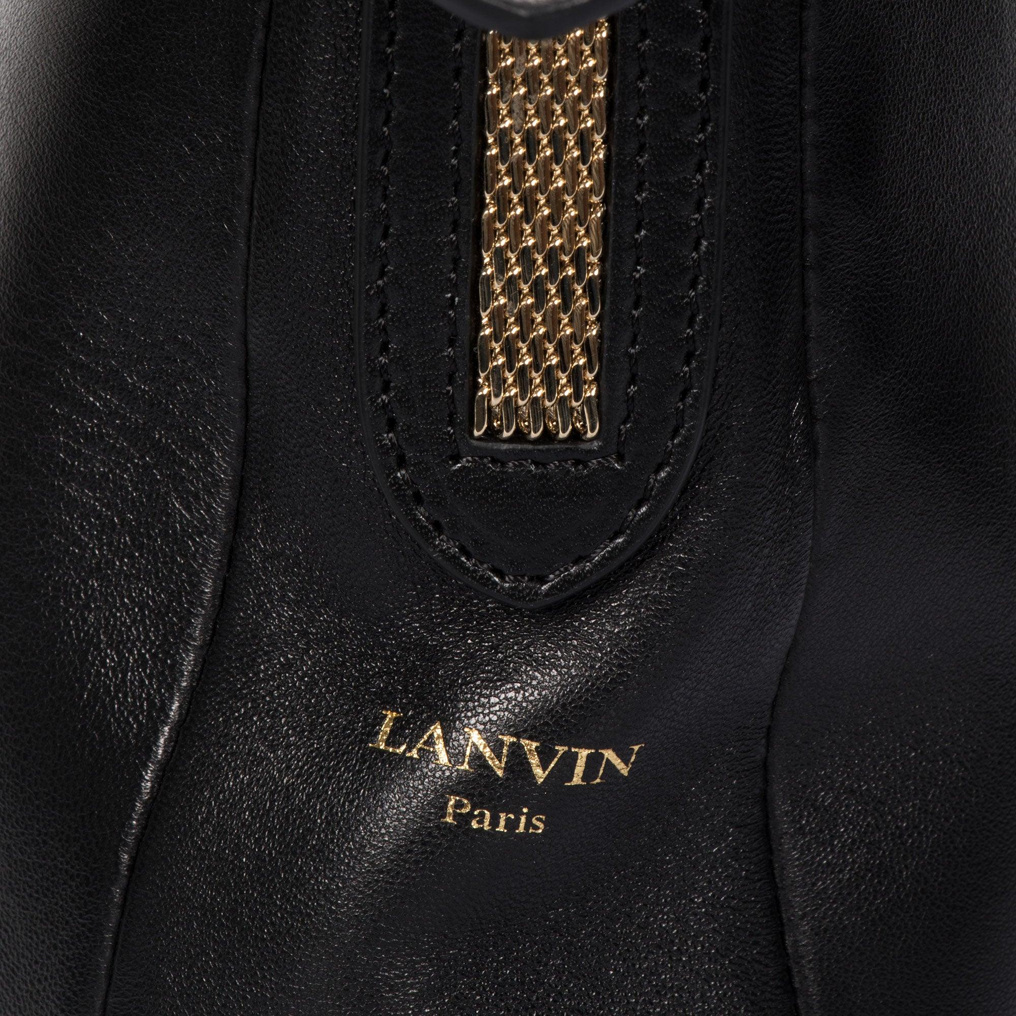 Lanvin Medium Black Hobo Chaine Bag