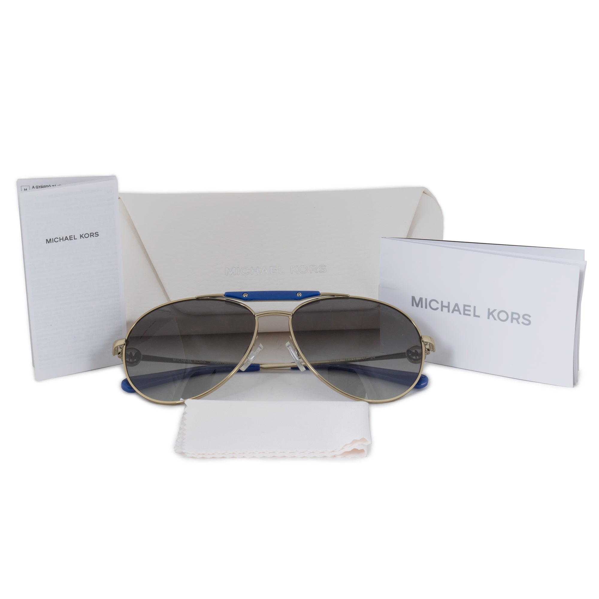 Michael Kors Zanzibar Aviator Sunglasses MK5001 100411 58 | Gold Frame | Gray Gradient Lenses