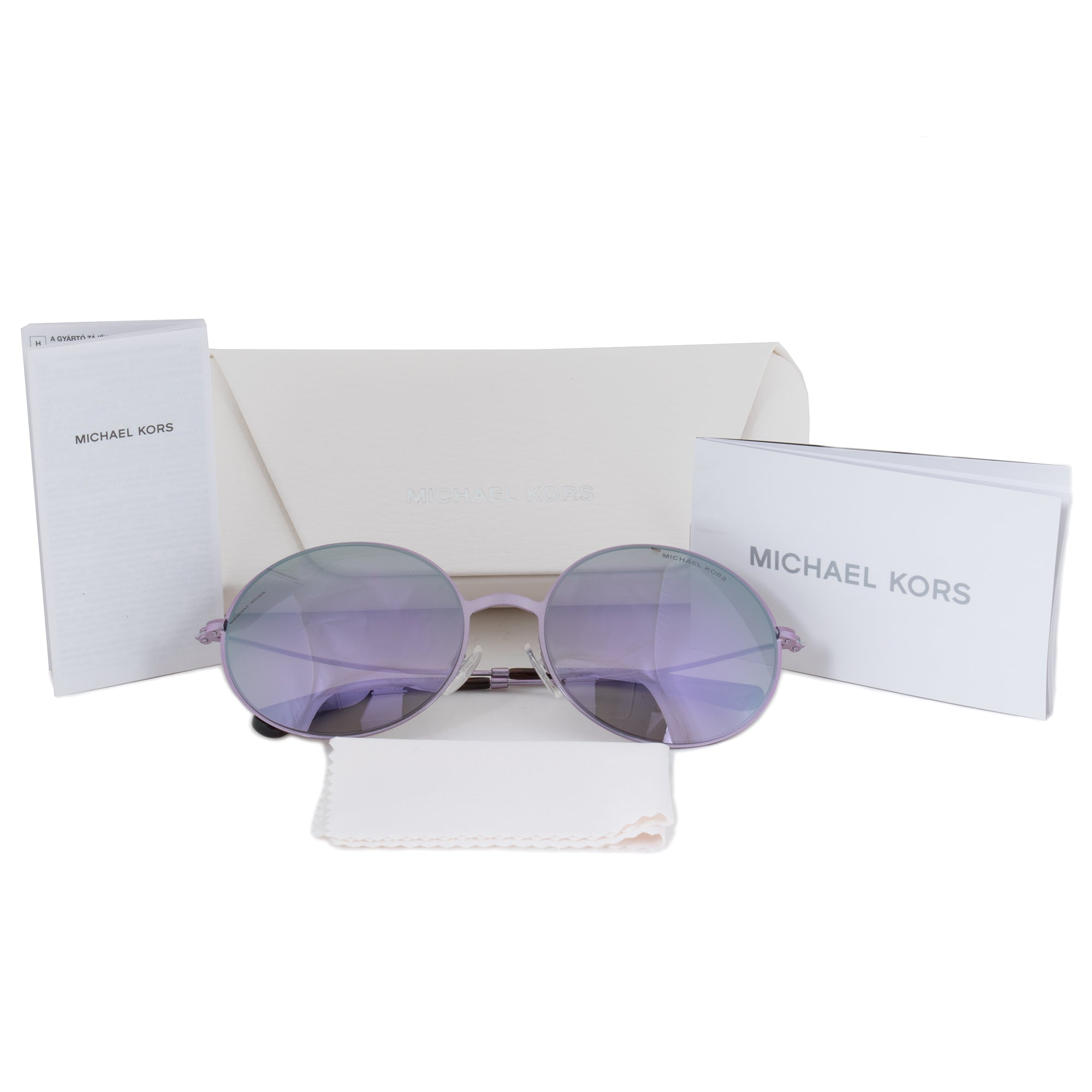 Michael Kors Kendall ll Round Sunglasses MK5017 113825 55 | Purple Glitter Frame | Purple Mirror Lenses