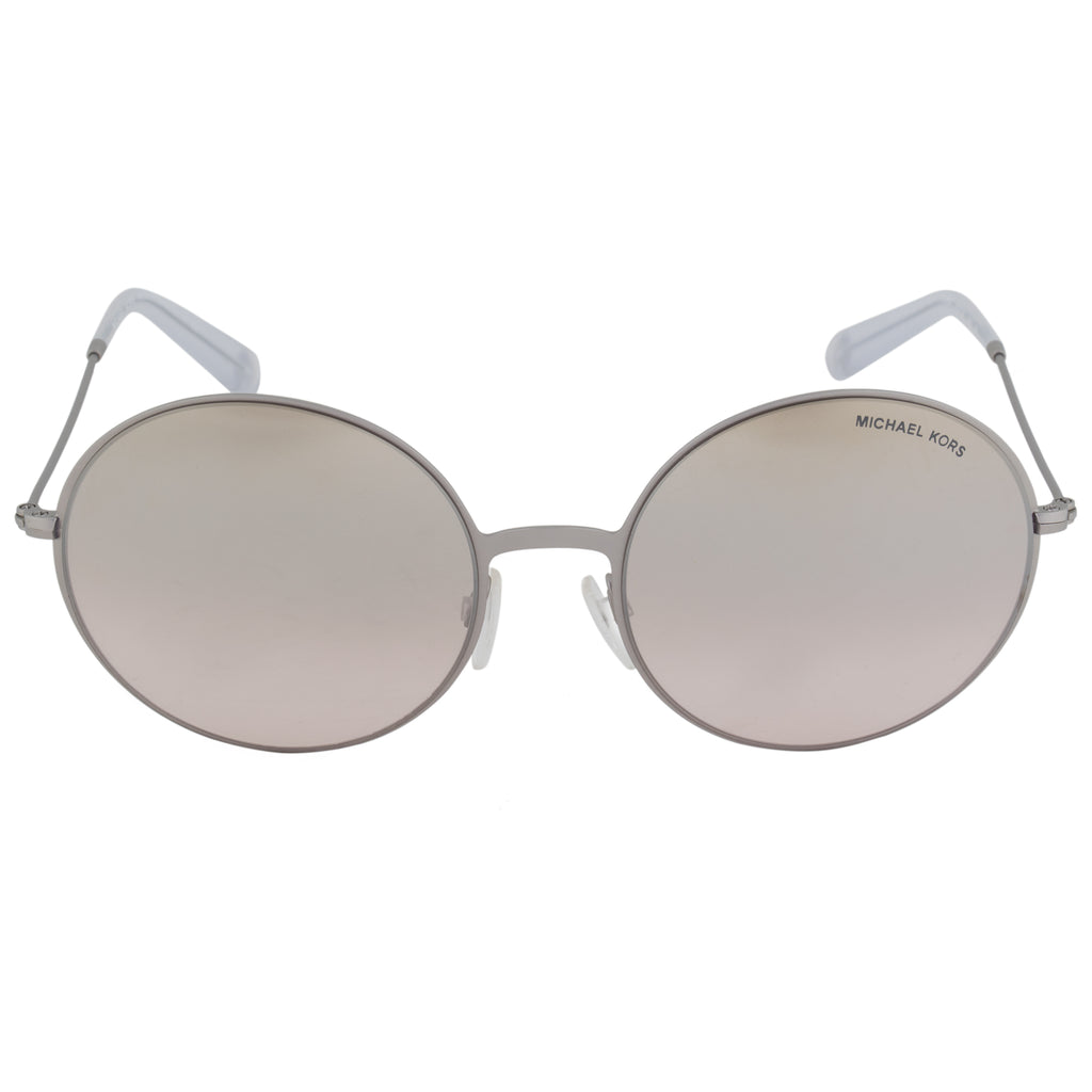 Michael Kors Kendall ll Round Sunglasses MK5017 11398Z 55 | Brushed Silver Frame | Brown Gradient Lenses
