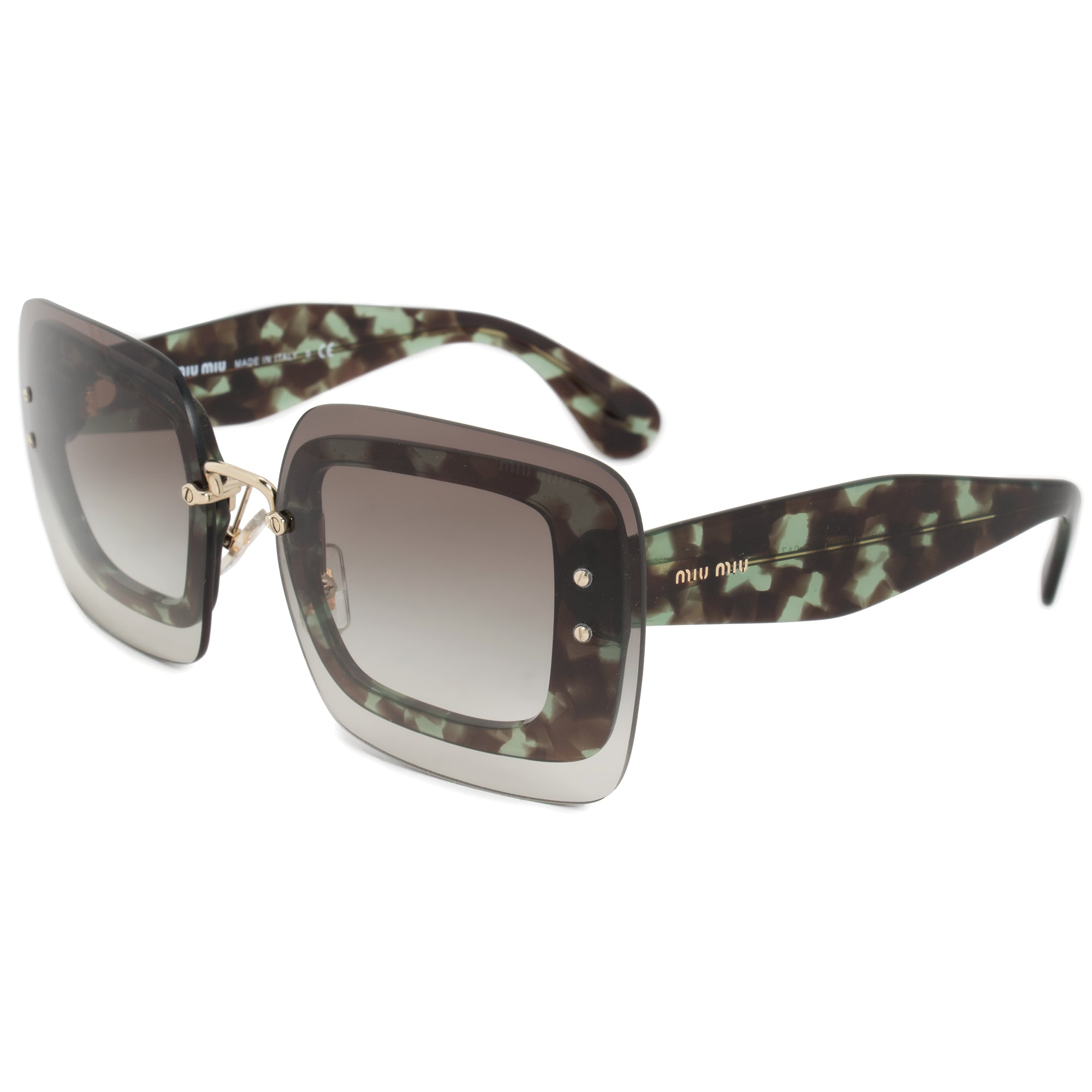 Miu Miu Oversized Square Sunglasses SMU02RS UAG0A7 67