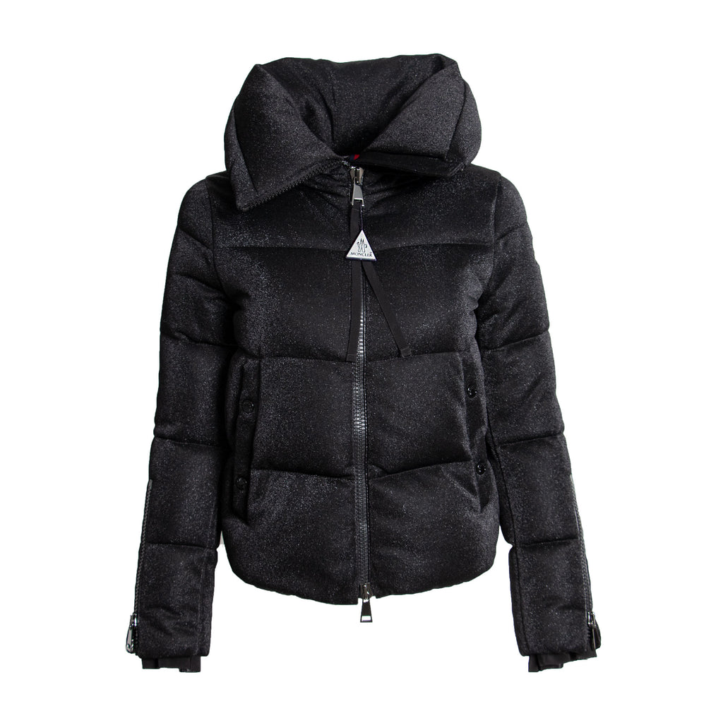 Moncler Bandama Zip-Sleeve Puffer Jacket Size 00 in Black