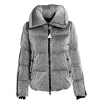 Moncler Bandama Zip-Sleeve Puffer Jacket Size 3 in Silver