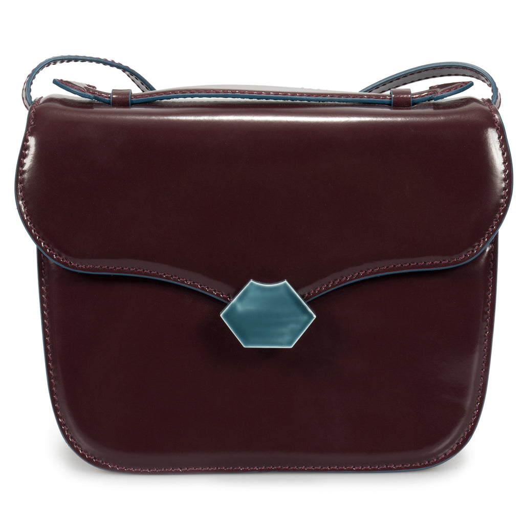 Marni Medium Mrs Midi Shoulder Bag in Wine