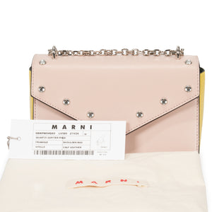 Marni Small Triangle Shoulder Bag in Pink