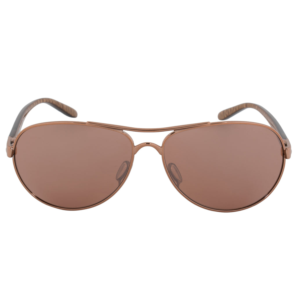 Oakley Feedback Pilot Sunglasses 0OO4079 407930 59 | Burned Copper Frame | Brown Gradient Lenses