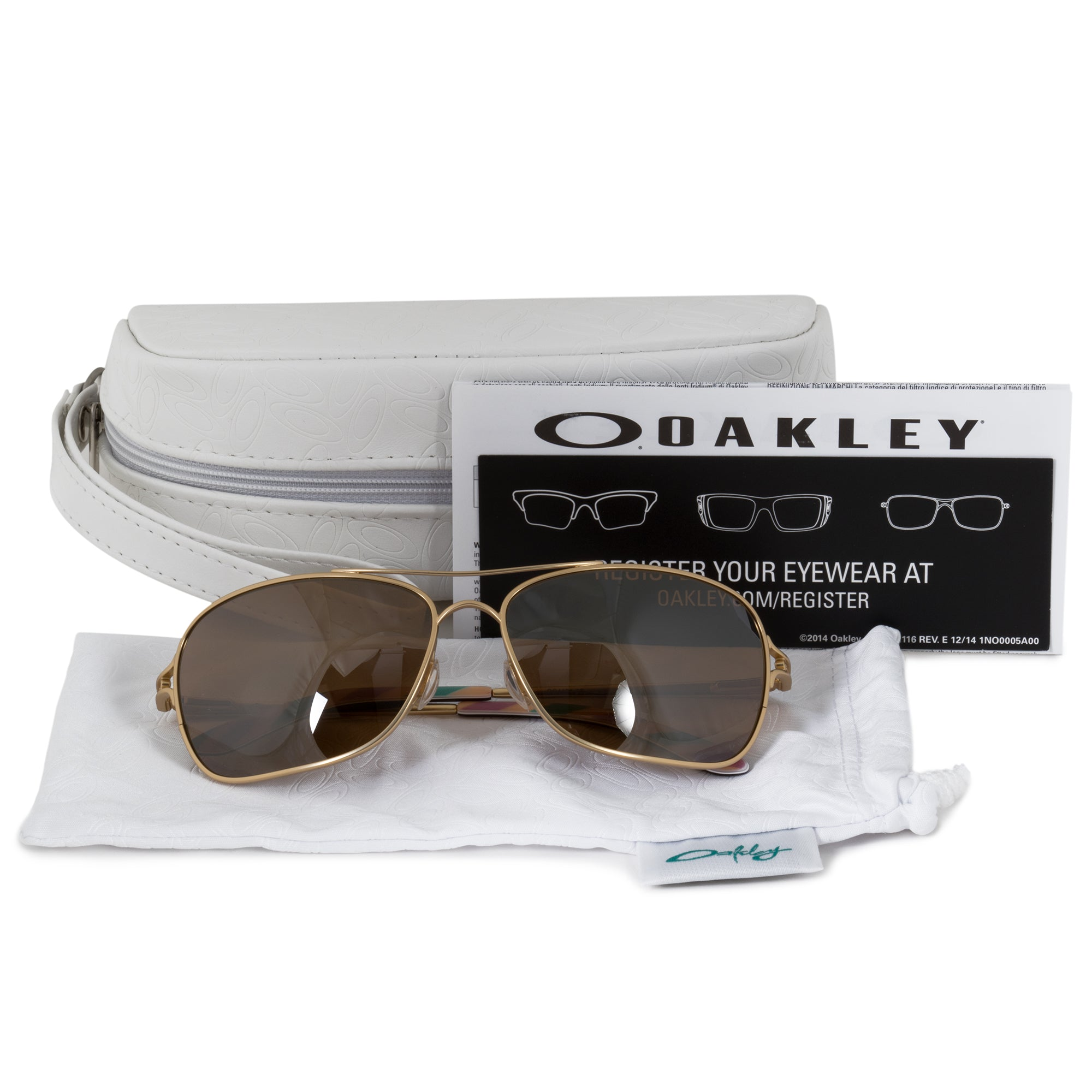 Oakley Conquest Square Sunglasses 0OO4101 410103 59 | Gold Frame | Tungsten Iridium Lenses